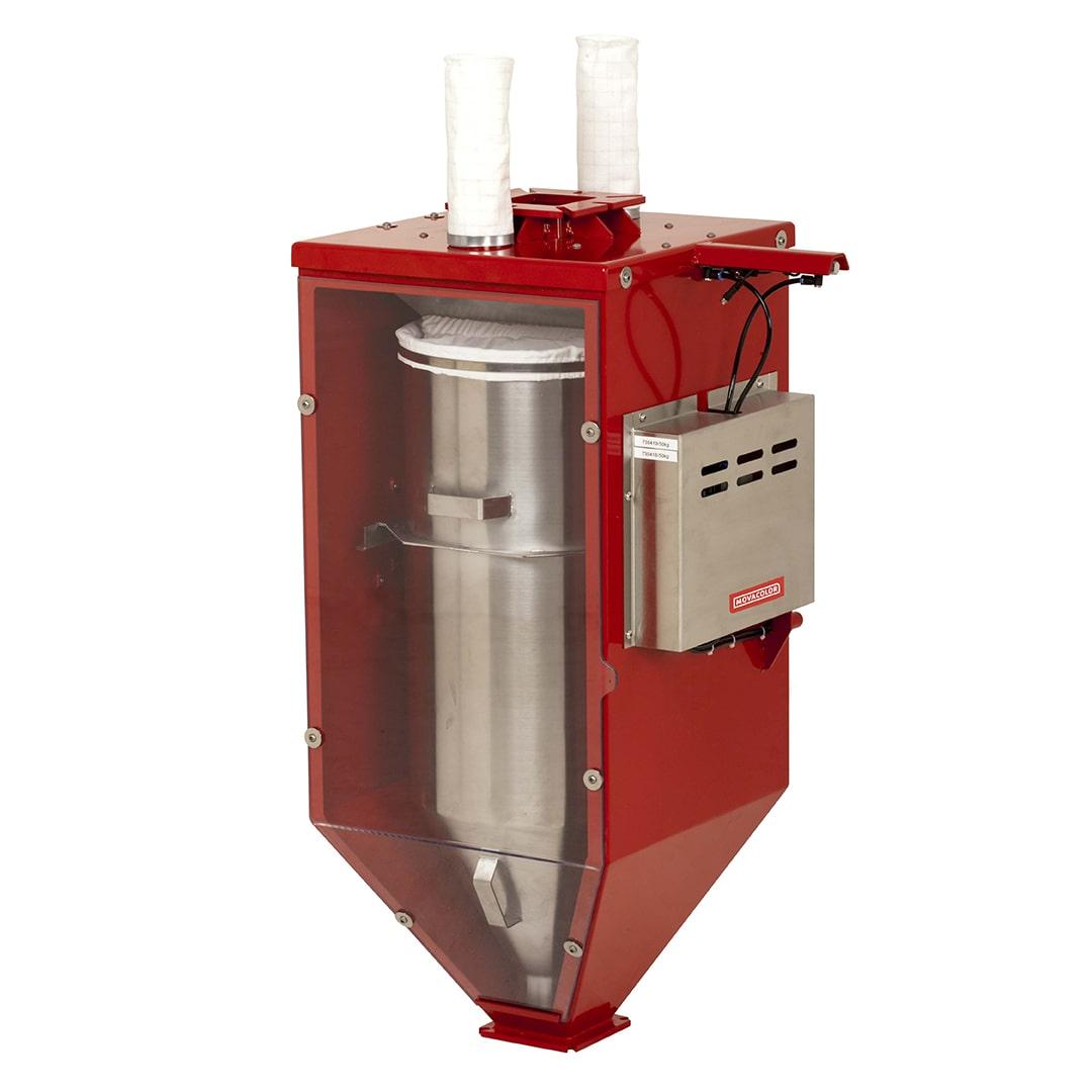 MCWeight P: mide la capacidad real de alimentación de un extrusor que funciona con polvo